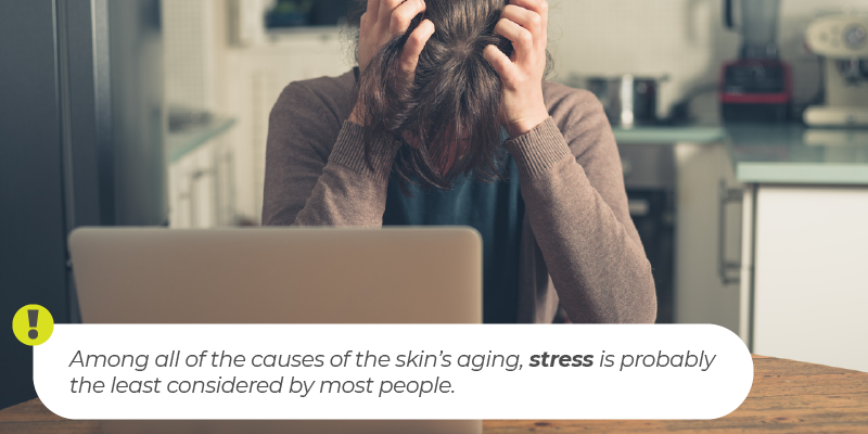Among all of the causes of the skin's aging, stress is probably the least considered by most people.